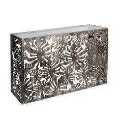 CASABLANCA Flora Buffet en métal avec Plateau en Verre Transparent 129 cm