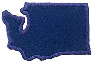 Iron On Patch-WASHINGTON-Custom-Choose Your Color!