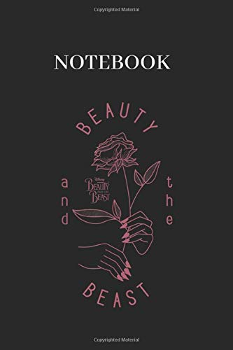 Notebook: Disney Beauty The Beast Vintage Craft Rose Graphic Lined Notebook Journal Black Cover Arts with College Lined Notebook Journal Size 6in x 9in x 125 Pages to Write