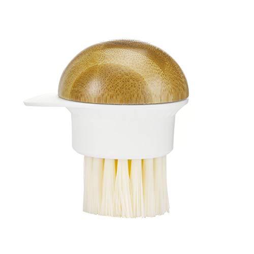 Full Circle FunGuy, 2 in 1 Mushroom Cleaning Brush, White