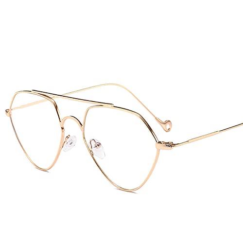 IRCATH Gafas de Sol Mujeres Recortando Sombras de Gradiente Gafas de Sol Señoras Vendimia Vintage Eyewear Gafas UV400 Moda Shades Adecuado para Conducir Playa Trekking Party-Oro
