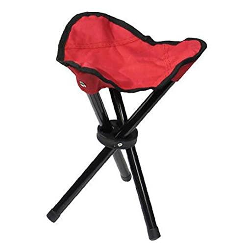 Taburete de trípode Plegable Slacker Potable Ligera Ligera Plegable Camping Picnic Silla Patio Rojo Picnic Mesa y Silla
