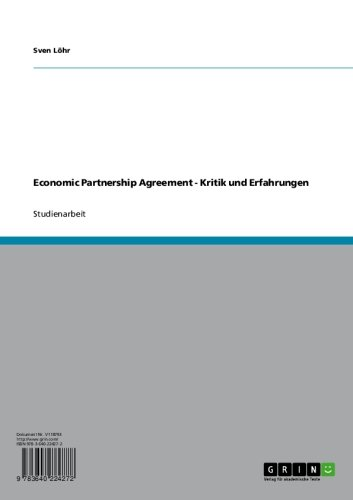 Economic Partnership Agreement - Kritik und Erfahrungen