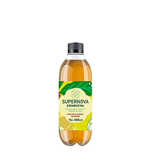 Chá Kombucha SUPERNOVA Mate com limão e gengibre pet 330ml