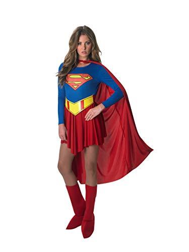 DC Comics Deluxe Supergirl Costume, Red/Blue, Medium