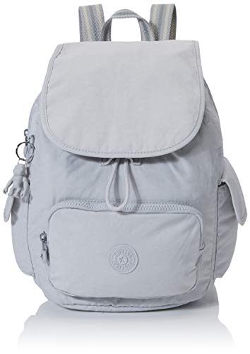 Kipling City Pack S - Zaini Donna, Grigio (Curiosity Grey), 27x33.5x19 cm