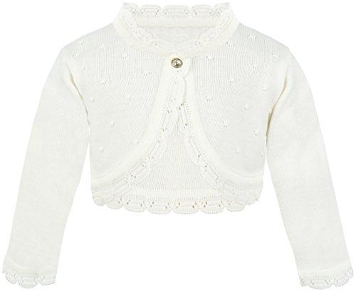 Lilax Baby Girls#039 Knit Long Sleeve Bolero Cardigan Shrug