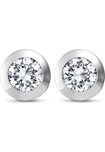 JETTE Damen-Ohrstecker 925er Silber rhodiniert 2 Zirkonia One Size Silber 86505657