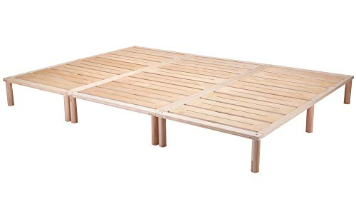 Gigapur G1 29784 Bett | Co-Sleeping | Birke Natur Schicht-Holz | belastbar bis 195 kg je Element | 280 x 200 cm
