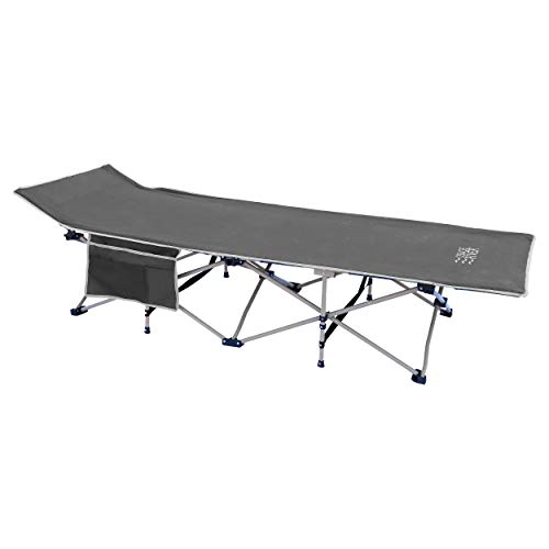 OSAGE RIVER 450LBS Folding Camping Cot with Carry Bag, Portable and Lightweight Bed for Adults or Kids, Gray