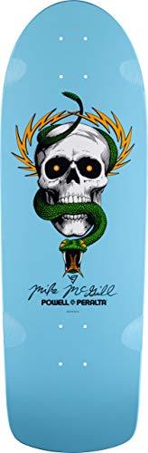 Powell-PeraltaTM Skateboard-Brett / Deck, Motiv Totenkopf und Schlange, Hellblau