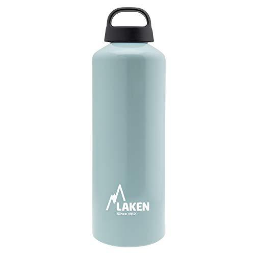 Laken Unisex– Erwachsene Classic Aluminium hellblau 1 Liter, BPA frei Aluminiumtrinkflasche, PBA