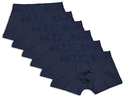 Frank Fields Herren Retro-Pants 6er Pack aus Microfaser mit Jacquard-Bund, Farbe:Navy, Größe:9