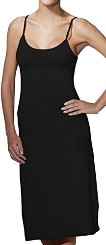 Doreanse - Vestido largo de algodón para la noche, con tirantes ajustables, opaco Negro  XXL