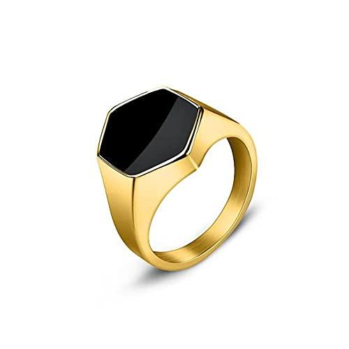 JIUDELE Anillo de hombre punk rock liso 316L acero inoxidable sello anillo para hombres hip hop fiesta joyería masculina boda