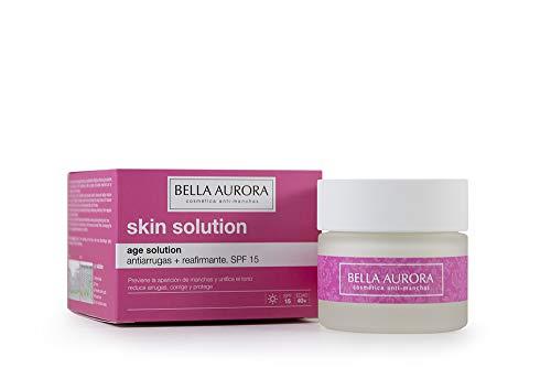 Bella Aurora Crema Facial de Día Hidratante Anti-Arrugas y Reafirmante 40+ Años SPF 15, 50 ml | Anti-Edad | Age Solution | Skin Solution