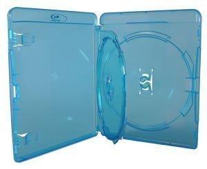 2x custodia blu per Blu-Ray DVD custodie doppie 2dischi