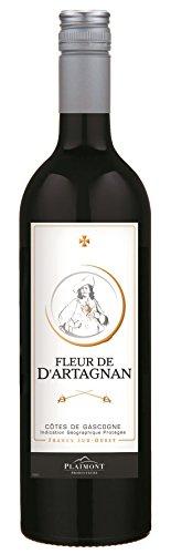 6x 0,75l - 2018er - Fleur de d'Artagnan - Rouge - Côtes de Gascogne I.G.P. - Frankreich - Rotwein trocken