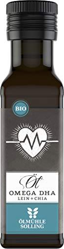 Aceite para aceite Solling Omega 3 DHA, aceite de linaza + aceite de chia, calidad ecológica, 100 ml