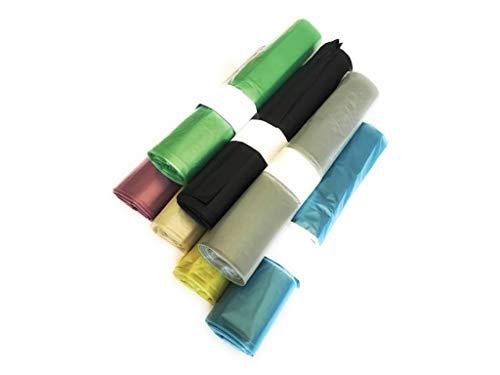 160 Sacchi PATTUME Resistenti 50x60 cm 30L 12gr/Sacco (8 Rotoli x 20 PZ) del Colore A Scelta