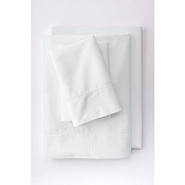 Lands' End No Iron Supima Solid Sheets, F, White