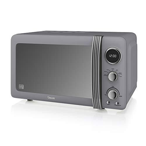 Swan Retro SM22030GRN Digital Microwave with 6 power levels, 800W, 20 Litre, Grey