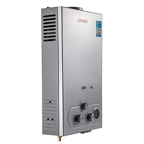 FlowerW 16L-LPG Gas-Warmwasserbereiter Durchlauferhitzer Gas Verflüssigt 16KW LED Bildschirm(16L-LPG)