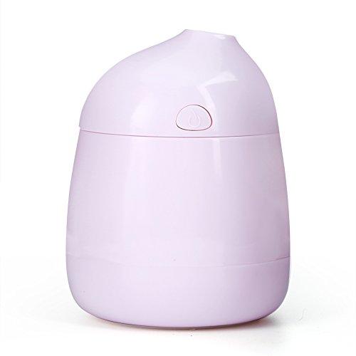 EVTSCAN Mini Humidificador, USB Portátil Mini Aroma Humidificador de Aire Difusor de Aire Purificador Atomizador Refrescador de Aire Oficina de Coche (Azul/Rosa/Blanco)(Pink)