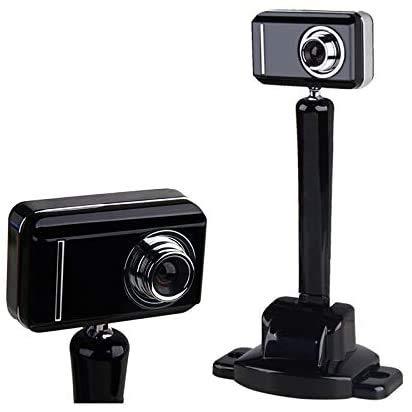 Hushuigeee HD 1080p cámara webcam con obturador de privacidad - Pantalla ancha, video llamada y grabación en la vida privada obturador de la cámara libre del trípode web con doble micrófono digital we