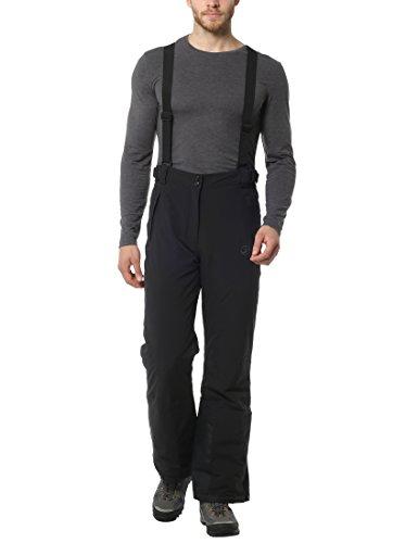Ultrasport Sölden skibroek voor heren, snowboardbroek, heren, zwart, softshell broek, lange winterbroek, waterdicht, winddicht en ademend