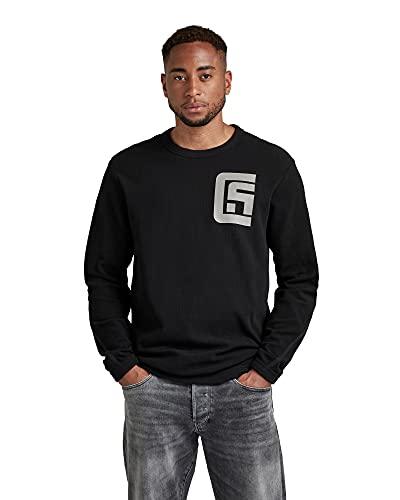 G-STAR RAW Chest Graphic Tweeter Sudadera, Negro (Dk Black C814-6484), XXL para Hombre