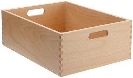 Zeller 13306 Caja Multiusos, Madera, Marrón, 30x20x15 cm: Amazon.es: Hogar