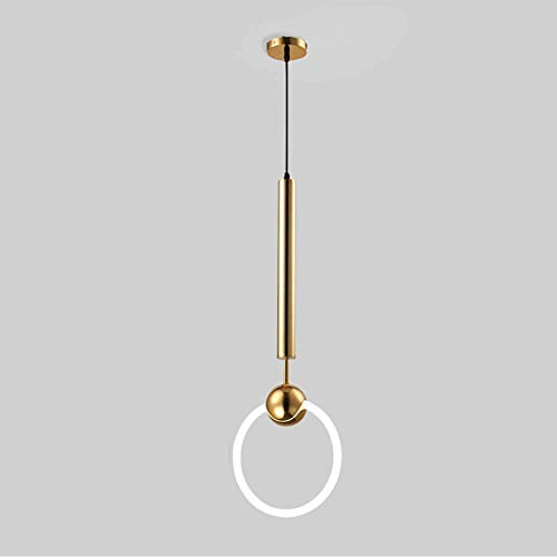 Moderno anillo simple techo Colgando Luz Ronda LED LED Lámpara de metal Room Ajustable Luz colgante ajustable para sala de estar Comedor Corredor Casa de noche Luz de noche