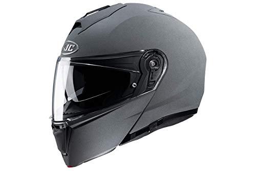 HJC Unisex-Adult I90 motorradhelm, Steingrau, XL