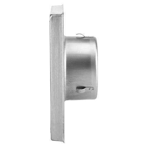 Lecxin Rejilla de conducto de ventilación de Acero Inoxidable, Rejilla de conducto de ventilación de Aire, Material de Acero Inoxidable 304 para ventilaciones y extractores de baños domésticos