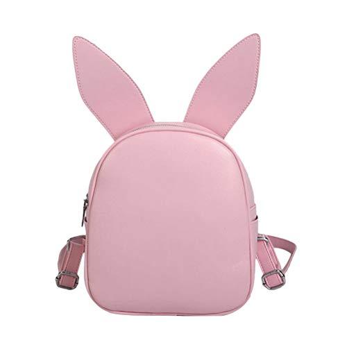 BESTOYARD Sac à Dos Mini Cartoon Bunny Ear Sac à Dos Casual School Bag Sac à Dos (Rose)