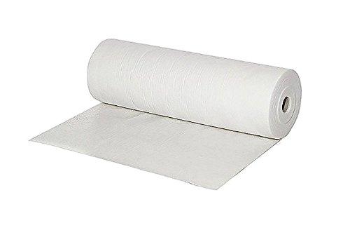 asup foil - 1 Rolle mit 50m² - Maler Abdeckvlies weiß 180 g/m2, 50 x 1m - selbstklebend - saugfähig, staubfrei, mehrfach verwendbar | Malerfilz-Schutzfließ zum Tapezieren, Renovieren und Abdecken
