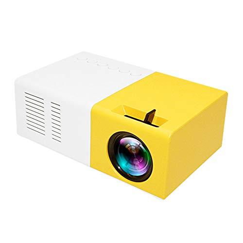 Docooler Proyector LED de Bolsillo Mini, proyector LCD portátil, 400 lúmenes 720P / 1080P HD AV, Ranura para Tarjeta TF del proyector, con Control Remoto
