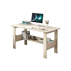 ❤️ Material:Man-made fiberboard. Product size: 39.4 x 17.7 x 28.3 inches (100x45x72 cm). ❤️ The desktop uses a first-grade fire board, a large and comfortable table top. ❤️ The overall structure is stable, the workbench is wear-resistant, scratch-res...
