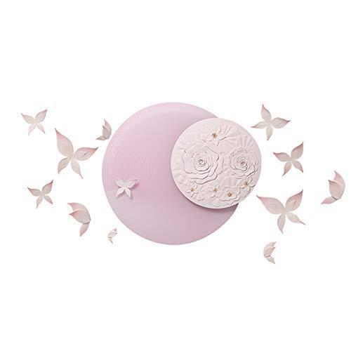 FTFTO Living Equipment Romantische rosa Blume Schmetterling Relief Wandskulptur 3D Wand Ornament Handmade DIY Kunsthandwerk für Wohnzimmer