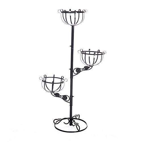 DGHJK Vase Simple Garden Art Wrought Iron Flower Multi-level Living Room Indoor And Outdoor Balcony Floor Three-story Black Falling Plant Oversized 103.5 * 61cm for flowers