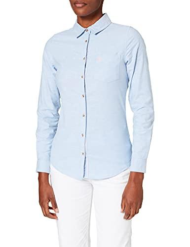Springfield Camisa Oxford Algodón Orgánico, Azul Medio, 40 para Mujer