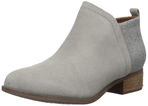 TOMS Women's Deia Ankle Boot, Drizzle Grey Suede/Felt, 7.5 Medium US