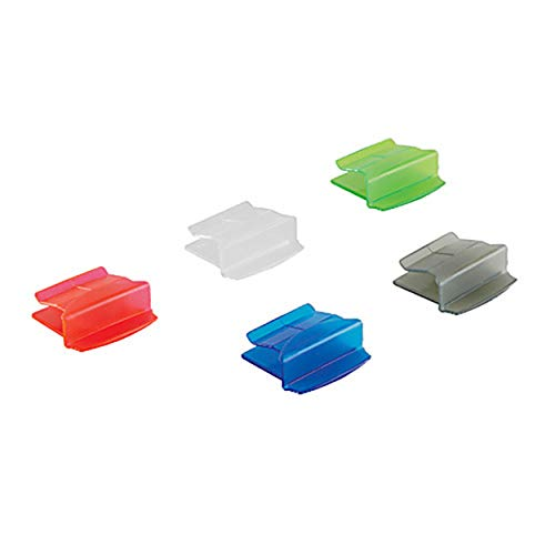 Heathrow 120653 Slide Folder Clasp, Assorted (Clear, Gray, Blue, Green, Red) (Pack of 100)