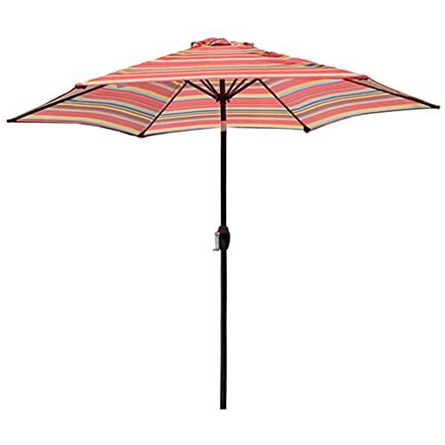 MXBC Sombrilla de jardín inclinable para mesa de 38 mm de aluminio inclinable para exteriores, sombrilla con botón adicional de inclinación y manivela para exteriores, jardines y patios