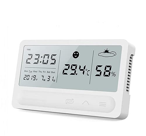 Humidity Gauge,Multifunctional Indoor Large Display Hygrometer High Precision Temperature Monitor is Suitable for Living Room, Bedroom, Kitchen