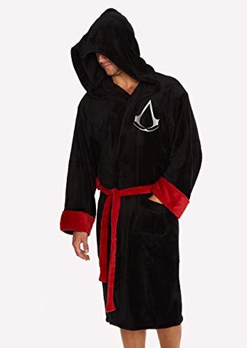 Groovy Assassin's Creed Bademantel mit Kapuze, Polyester, Schwarz, Einheitsgröße