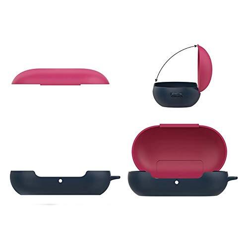decaden Kopfhörer Tasche,Geeignet Für Schutzhülle Mit Haken Für Samsung Galaxy Buds Bluetooth-Sportkopfhörer Kleine Eiförmige, Tragbare, Tropfenfeste All-Inclusive-Hülle Aus Kunststoff