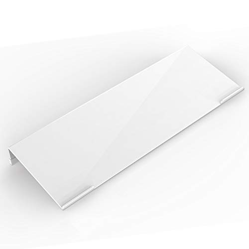Acrylic Tilted Computer Keyboard Stand for Ergonomic Typing, Keyboard Tray Holder with Silicone Non-Slip Strip, Porcelain White