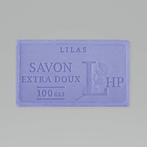 PRODUIT DE PROVENCE - LILAS - SAVON DE MARSEILLE EXTRA DOUX 100 G - DÉLICAT PARFUM NATUREL DE LILAS- GARANTI SANS PARABEN